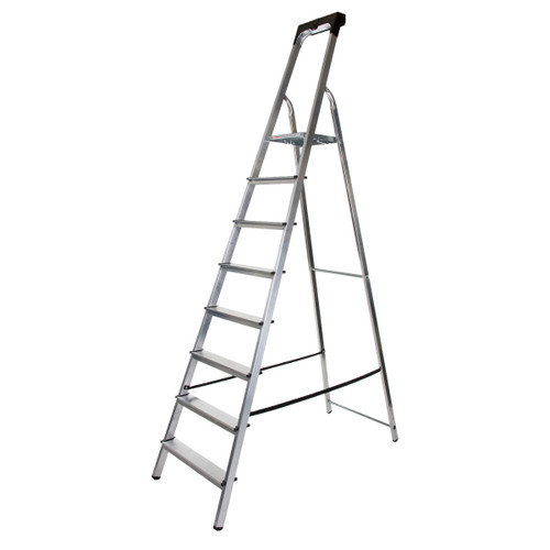 Buy Werner 74108 High Handrail Stepladder With Tool Tray 8 Tread (1.75m) at Toolstop