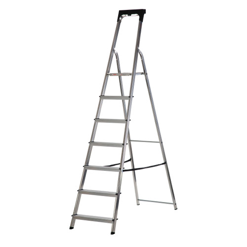 Buy Werner 74107 High Handrail Stepladder With Tool Tray 7 Tread (1.48m) at Toolstop