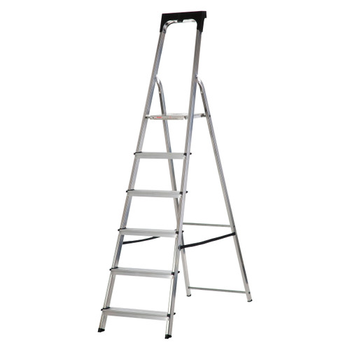 Buy Werner 74106 High Handrail Stepladder With Tool Tray 6 Tread (1.25m) at Toolstop