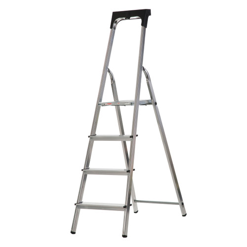 Buy Werner 74104 High Handrail Stepladder With Tool Tray 4 Tread (0.8m) at Toolstop