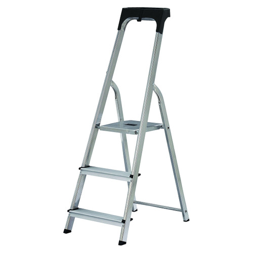 Buy Werner 74103 High Handrail Stepladder With Tool Tray 3 Tread (0.58m) at Toolstop