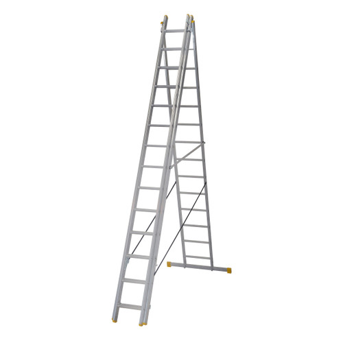 Werner 72541 4.1m Box Section Triple Extension Plus Ladder (x4) - 2