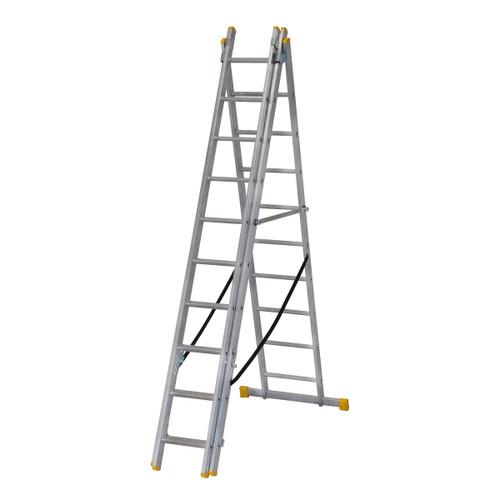 Werner 72529 3.0m Box Section Triple Extension Plus Ladder (x4) - 2