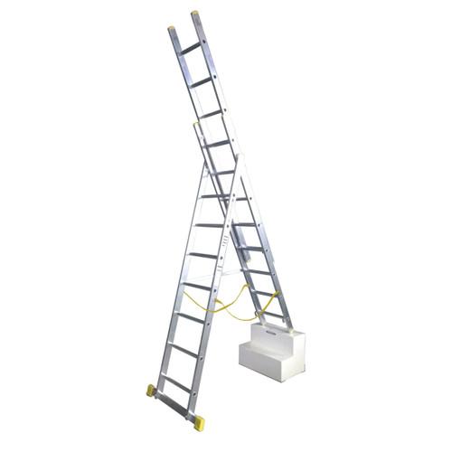 Werner 72524 2.4m Box Section Triple Extension Plus Ladder (x4) - 1