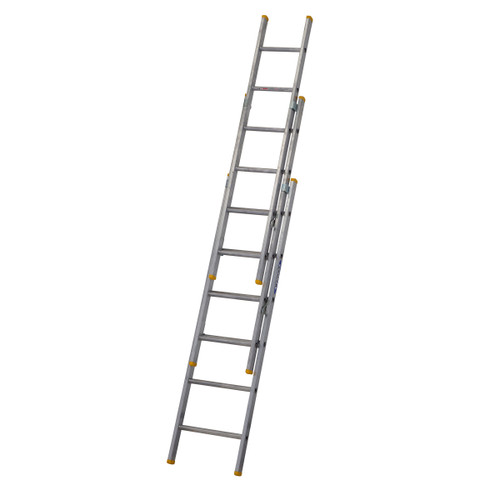 Buy Werner 72318 Triple Box Section Extension Ladder 3 x 1.85 Metres (4.05m) at Toolstop