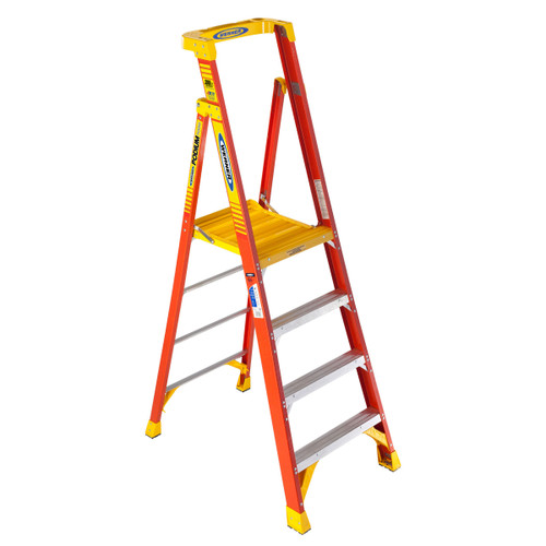 Werner 72004 Fibreglass Podium Stepladder 4ft