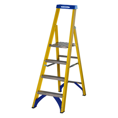 Werner 71704 Fibreglass Platform Stepladder Trade 4 Tread (0.94m) - 3
