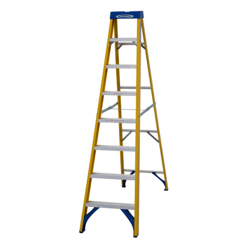 Werner 71608 Fibreglass Swingback Stepladder Trade 8 Tread (2.23m) - 5