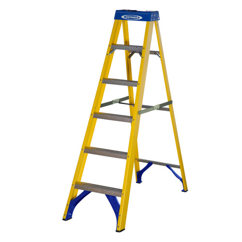 Werner 71606 Fibreglass Swingback Stepladder Trade 6 Tread (1.67m) - 5