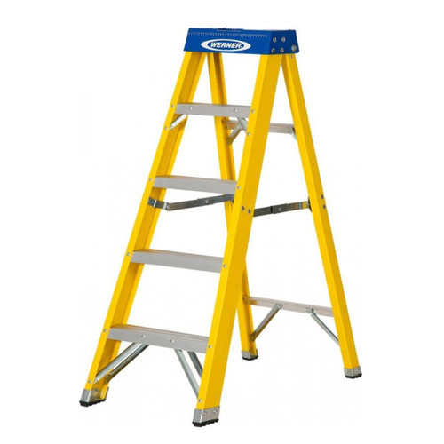 Werner 71605 Fibreglass Swingback Stepladder Trade 5 Tread (1.4m) - 5