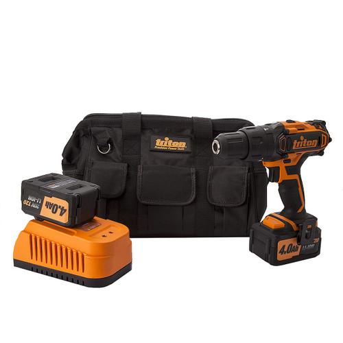Triton T20CH  20V Cordless Combi Drill (2 x 4.0Ah Batteries) (100901) - 3