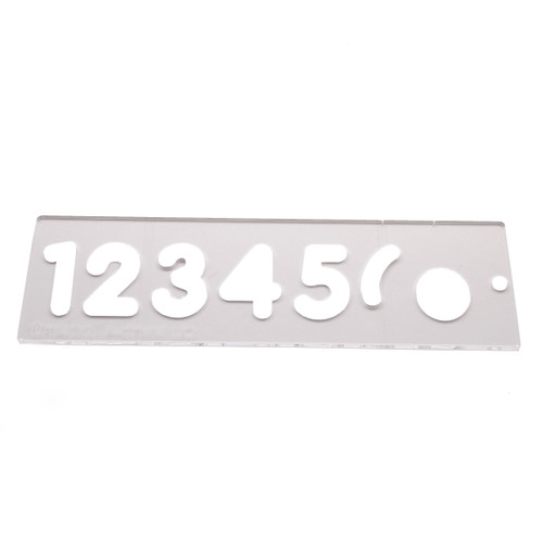 Trend TEMP/NUC/57 Number Template Set 57MM Uppercase - 2