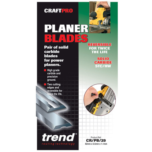 Trend CR/PB29 CRAFTPRO 82mm Reversible Planer Blades  - 3