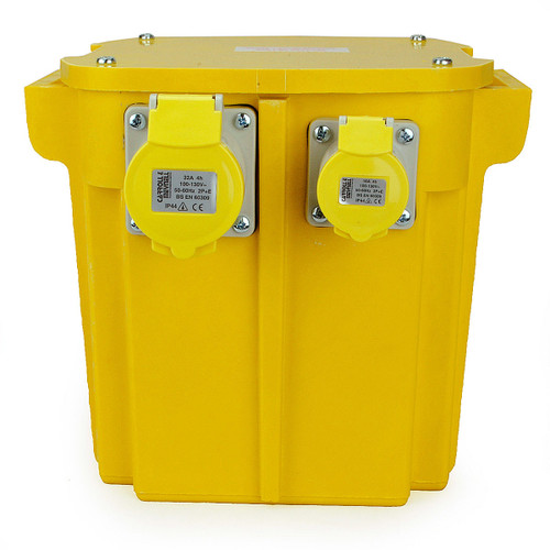 5KVA Triple Outlet (2 x 16 Amp, 1 x 32 Amp) Site Transformer 240V - 110V - 2