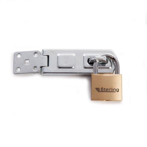 Sterling PHS101 Brass Padlock With Hasp and Staple (BPL142+DHS100) - 2