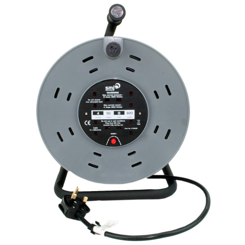 SMJ CTH5013 50 Metre 13 Amp 4 Socket Heavy Duty Cable Reel with Thermal Cut Out 240V - 2