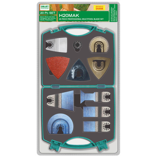 Smart H20MAK Professional Multi Tool Blade Set with Quick Release Fitment (20 Piece) - 1