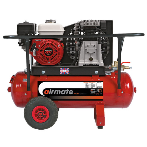 Buy SIP 04444 SHP5.5/50 50 Litre Airmate Industrial Compressor Super Petrol with Honda Engine at Toolstop