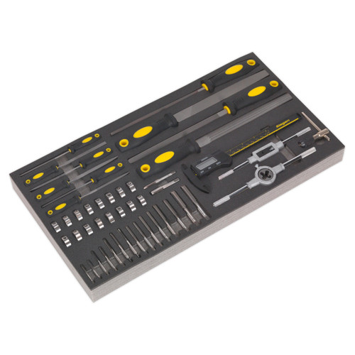 Buy Siegen S01132 Tool Tray With Tap & Die, File & Calliper Set 48pc at Toolstop