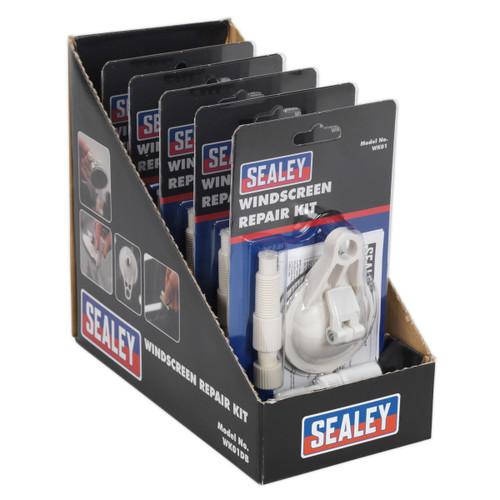 Buy Sealey WK01DB Windscreen Repair Kit Display Box Of 5 at Toolstop