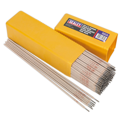 Buy Sealey WESS5025 Welding Electrodes Stainless Steel ∅2.5 X 350mm 5kg Pack at Toolstop