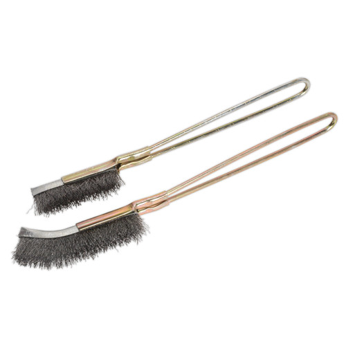 Buy Sealey WB06 Wire Brush Set (2 Piece) at Toolstop