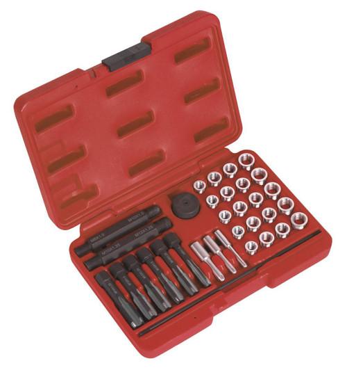 Buy Sealey VS311 Glow Plug Thread Repair Set 33pc for GBP121.65 at Toolstop