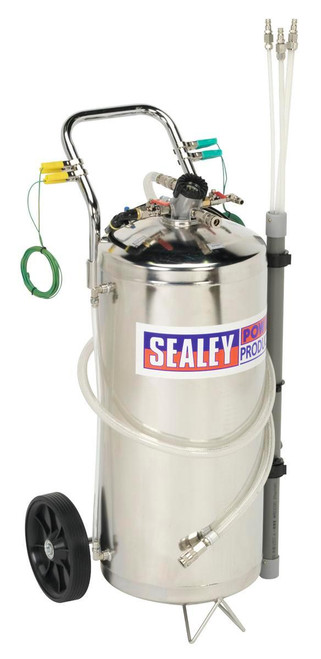 Buy Sealey TP200S Air Operated Fuel Drainer 40ltr Stainless Steel at Toolstop
