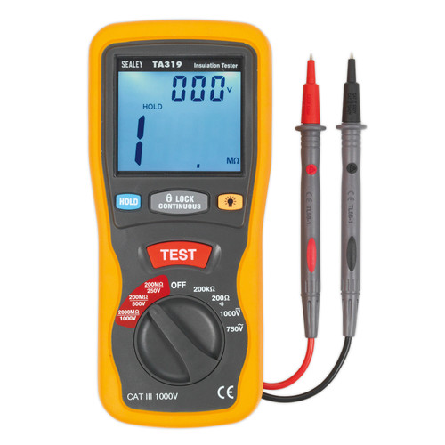 Buy Sealey TA319 Digital Insulation Tester for GBP165.57 at Toolstop