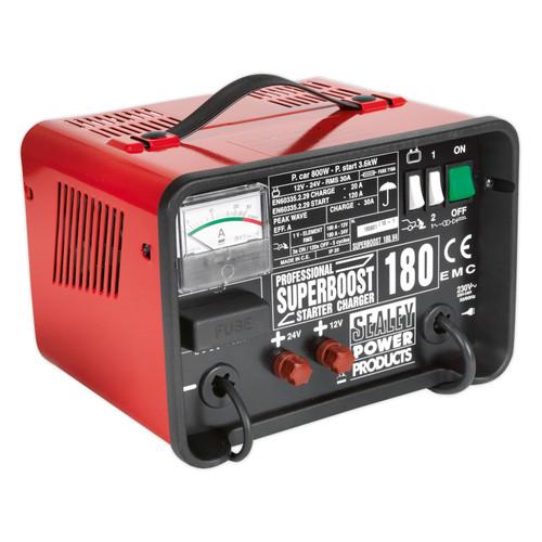 Buy Sealey SUPERBOOST180 Starter/charger 180/40amp 12/24v 240v at Toolstop
