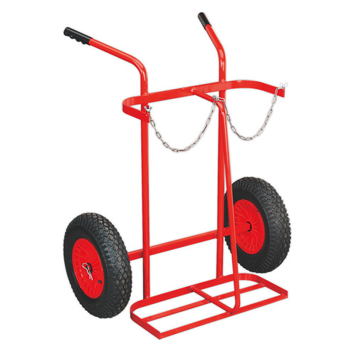 Buy Sealey ST28P Welding Bottle Trolley With Pneumatic Tyres - 2 Bottle at Toolstop