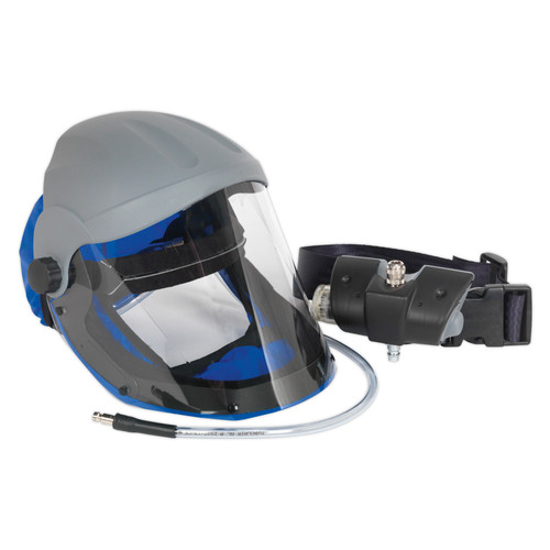 Buy Sealey SSP201 Air Fed Breathing Mask With Waist Belt Assembly at Toolstop