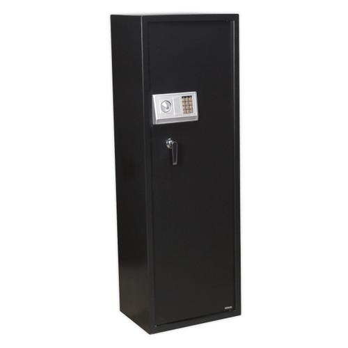 Buy Sealey SEGS8 Gun Cabinet With Ammo Box & Electronic Lock 8 Gun Capacity at Toolstop