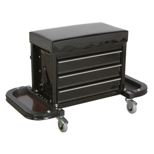Buy Sealey SCR18 Mechanic's Utility Seat & Tool Box at Toolstop