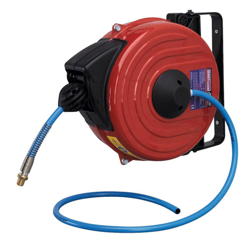 Buy Sealey SA90 Retractable Air Hose Reel 12mtr ∅8mm Id Tpu Hose for GBP191.48 at Toolstop