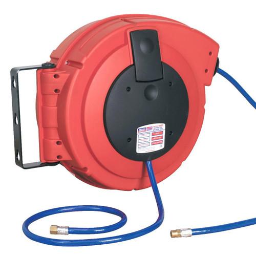 Buy Sealey SA894 Retractable Air Hose Reel Hd Mechanism 15mtr ∅8mm Id Pu Hose at Toolstop