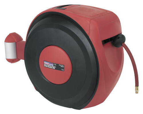 Buy Sealey SA824 Auto Rewind Control Air Hose Reel 30mtr ∅10mm Id - Rubber Hose at Toolstop