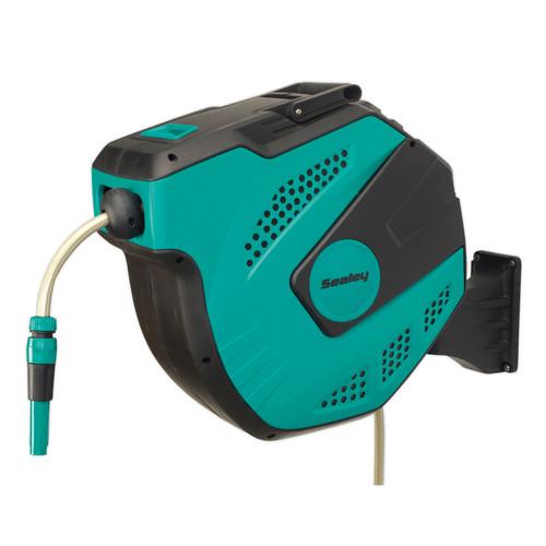 Buy Sealey RWH30 Auto Rewind Control Garden Hose Reel 30mtr at Toolstop