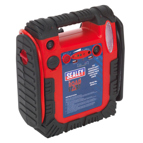 Sealey RS131 RoadStart Emergency Power Pack 12V 750 Peak Amps - 4