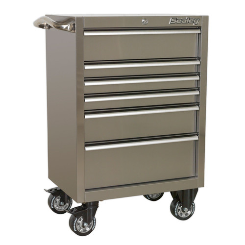 Buy Sealey PTB67506SS Rollcab 6 Drawer 675mm Stainless Steel Heavy-Duty at Toolstop