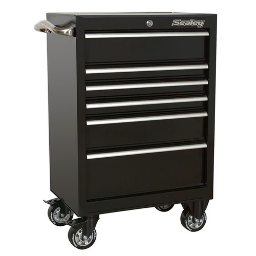 Buy Sealey PTB67506 Rollcab 6 Drawer 675mm Heavy-Duty Black at Toolstop