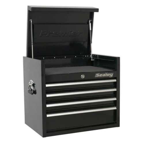 Buy Sealey PTB66004 Topchest 4 Drawer 660mm Heavy-duty Black at Toolstop