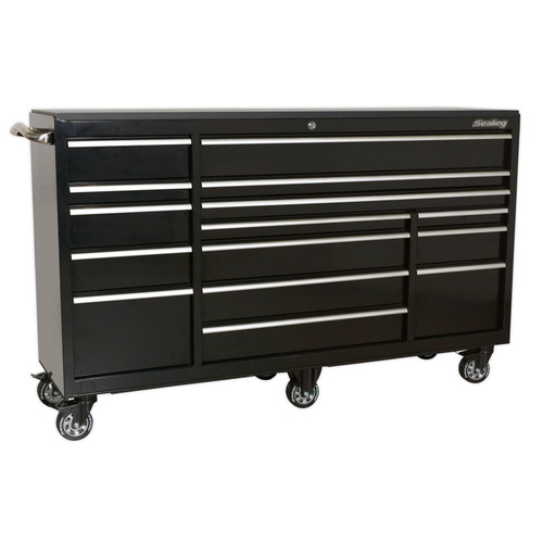 Buy Sealey PTB183015 Rollcab 15 Drawer 1845mm Heavy-Duty Black at Toolstop