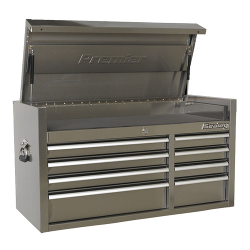 Buy Sealey PTB104008SS Topchest 8 Drawer 1055mm Stainless Steel Heavy-Duty at Toolstop