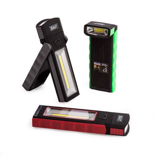 Sealey LED4101DB Magnetic Pocket Light 3w + 0.5w Cob LED 4 X AAA (Display Box Of 12) - 2