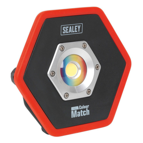 Buy Sealey LED065 Rechargeable Floodlight 10w Cob Led Lithium-ion Colour Matching Cri-95 at Toolstop