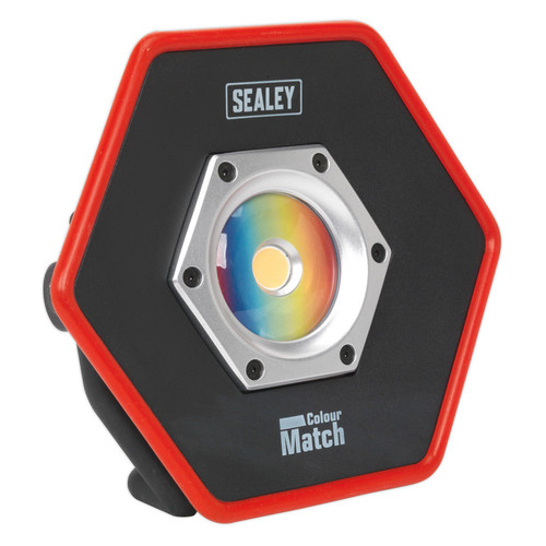 Buy Sealey LED057 Rechargeable Floodlight 20w Cob Led Lithium-ion Colour Matching Cri 95 at Toolstop