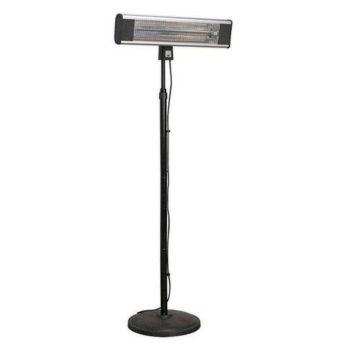 Buy Sealey IFSH1809R High Efficiency Carbon Fibre Infrared Patio Heater 1800w/240v With Telescopic Floor Stand at Toolstop