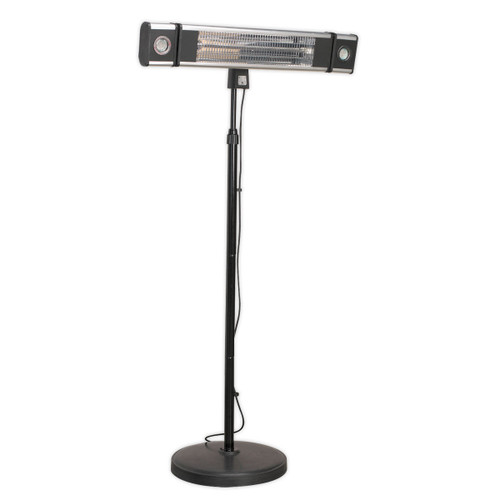 Buy Sealey IFSH1809LR High Efficiency Carbon Fibre Infrared Patio Heater 1800w/240v With LED Lights & Telescopic Floor Stand at Toolstop