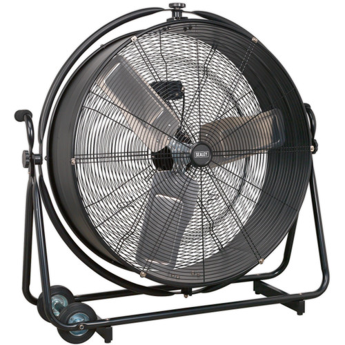 "Buy Sealey HVF30S Industrial High Velocity Orbital Drum Fan 30"" 240V at Toolstop"